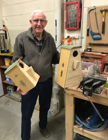 Master Carpenter Roger with our finsihed PRRRP Nest Boxes