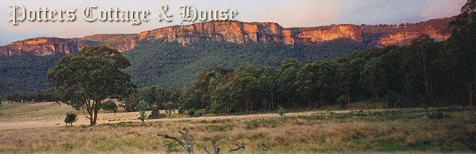 Potters Cottage for a weekend away in the beautiful Blue Mountains nestled below Mount Blackheath in the beautiful Kanimbla Valley